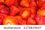 delicious strawberries cut for... | Shutterstock . vector #1173819637