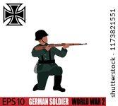 german soldier of world war 2.... | Shutterstock .eps vector #1173821551