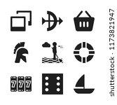 leisure icon. 9 leisure vector... | Shutterstock .eps vector #1173821947