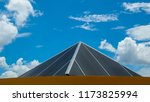 roof and blue sky | Shutterstock . vector #1173825994