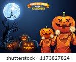 halloween  ghost  treat or... | Shutterstock .eps vector #1173827824