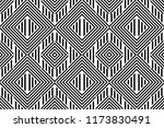 seamless pattern with striped... | Shutterstock .eps vector #1173830491