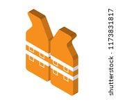 life jacket isometric left top...   Shutterstock .eps vector #1173831817