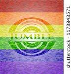 jumble emblem on mosaic...   Shutterstock .eps vector #1173843571