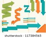 arrows set origami style | Shutterstock .eps vector #117384565
