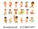 cute kids toons are having fun... | Shutterstock .eps vector #1173847657