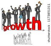 businesspeople team standing on ...   Shutterstock .eps vector #1173851311