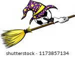 soccer with a starred wizard... | Shutterstock .eps vector #1173857134