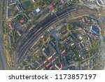 junction railway station with...   Shutterstock . vector #1173857197