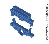 wagon isometric left top view... | Shutterstock .eps vector #1173858817