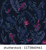 tropical plants leaves and... | Shutterstock .eps vector #1173860461