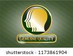 golden badge with team work... | Shutterstock .eps vector #1173861904
