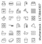 thin line vector icon set  ... | Shutterstock .eps vector #1173864307