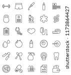 thin line vector icon set  ... | Shutterstock .eps vector #1173864427