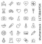 thin line vector icon set  ... | Shutterstock .eps vector #1173864934