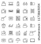 thin line vector icon set  ... | Shutterstock .eps vector #1173865054