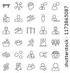 thin line vector icon set  ... | Shutterstock .eps vector #1173865087