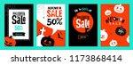 halloween sale templates. set... | Shutterstock .eps vector #1173868414