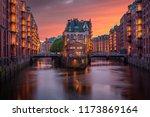 shipping docks in hamburg... | Shutterstock . vector #1173869164