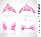 Shining Pink Girls Tiaras With...
