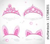 Shining Pink Girls Tiaras With...