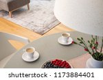 focus on a gray rug in a living ... | Shutterstock . vector #1173884401