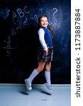 happy  little girl   at school... | Shutterstock . vector #1173887884