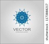 sacred geometry. spirograph... | Shutterstock .eps vector #1173888217