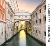 sunrise at bridge of sighs ... | Shutterstock . vector #1173889144
