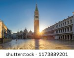 piazza san marco at sunrise ... | Shutterstock . vector #1173889201