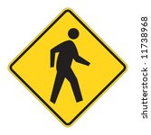 pedestrian traffic warning on... | Shutterstock .eps vector #11738968