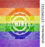 facility lgbt colors emblem  | Shutterstock .eps vector #1173907321