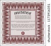 red vintage invitation.... | Shutterstock .eps vector #1173916351