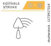 plastering line icon | Shutterstock .eps vector #1173917314