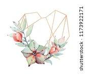 handpainted watercolor... | Shutterstock . vector #1173922171