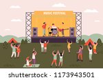 people at rock or electronic... | Shutterstock .eps vector #1173943501