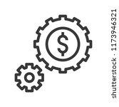 cogwheel and coin  passive...   Shutterstock .eps vector #1173946321