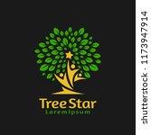 people reach star in tree logo... | Shutterstock .eps vector #1173947914