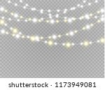 christmas lights isolated... | Shutterstock .eps vector #1173949081