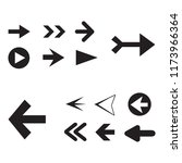 arrow icon set isolated on... | Shutterstock .eps vector #1173966364