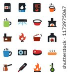 color and black flat icon set   ... | Shutterstock .eps vector #1173975067