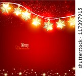 red christmas  background with... | Shutterstock .eps vector #117397915