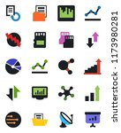color and black flat icon set   ... | Shutterstock .eps vector #1173980281