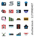color and black flat icon set   ... | Shutterstock .eps vector #1173980407