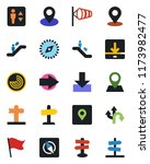 color and black flat icon set   ... | Shutterstock .eps vector #1173982477