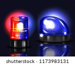 vector 3d realistic red and... | Shutterstock .eps vector #1173983131