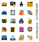 color and black flat icon set   ... | Shutterstock .eps vector #1173983284