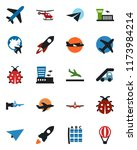 color and black flat icon set   ... | Shutterstock .eps vector #1173984214