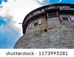 Vaduz, Liechtenstein, August 18th 2018:- Vaduz Castle, the home of the ruling Prince of Liechtenstein, located above the capital city of Vaduz - stock photo