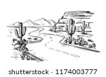 desert north america arizona.... | Shutterstock .eps vector #1174003777